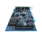 μπλε υπολογιστής χαρτονιών Στοκ εικόνα με δικαίωμα ελεύθερης χρήσης