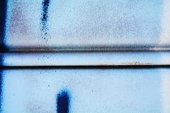 Μπλε υπόβαθρο γκράφιτι σιδήρου μετάλλων, στη Βενετία, Ιταλία Στοκ εικόνες με δικαίωμα ελεύθερης χρήσης