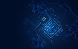 Μπλε υπόβαθρο καλωδίων Στοκ Εικόνες