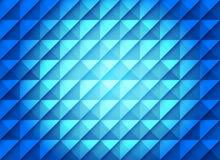 Μπλε υπόβαθρο κλίσης με το άνευ ραφής γεωμετρικό σχέδιο τετραγώνων και τριγώνων διανυσματική απεικόνιση