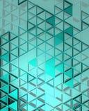 Μπλε υπόβαθρο με τα τρίγωνα Στοκ Εικόνες
