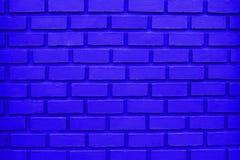 Μπλε υπόβαθρο τουβλότοιχος/μπλε σύσταση τουβλότοιχος Στοκ Φωτογραφία