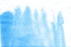 Μπλε υπόβαθρο watercolor χεριών λουλουδιών, απεικόνιση ράστερ ελεύθερη απεικόνιση δικαιώματος
