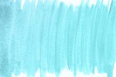Μπλε υπόβαθρο watercolor χεριών οικολογίας, απεικόνιση ράστερ διανυσματική απεικόνιση