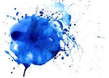 Μπλε υπόβαθρο Watercolor Στοκ φωτογραφία με δικαίωμα ελεύθερης χρήσης