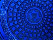 μπλε υπόνομος χρώματος ΚΑΠ Στοκ Φωτογραφία