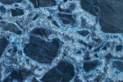 μπλε υψηλή μαρμάρινη RES σύσταση ανασκόπησης Στοκ Εικόνα