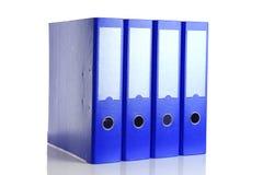 Μπλε φάκελλος γραφείων τέσσερα για τα έγγραφα Στοκ Φωτογραφίες