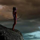μπλε φαντασία νεραιδών τόξ&omega Στοκ Φωτογραφία
