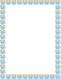 μπλε φλυτζάνια καφέ συνόρ&omeg Στοκ εικόνες με δικαίωμα ελεύθερης χρήσης