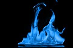 Μπλε φλόγες της πυρκαγιάς ως περίληψη backgorund Στοκ εικόνα με δικαίωμα ελεύθερης χρήσης