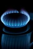 μπλε φλόγες Στοκ Εικόνα