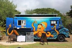 Μπλε φορτηγό τροφίμων σε Koloa, Kauai, Χαβάη στοκ φωτογραφίες