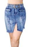 μπλε φούστα Jean Στοκ Εικόνα