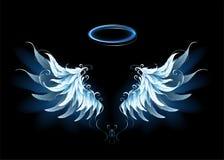 Μπλε φτερά αγγέλου διανυσματική απεικόνιση