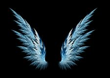 μπλε φτερά αγγέλου Στοκ Φωτογραφία