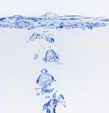 μπλε φυσαλίδες αέρα πο&upsilon Στοκ Εικόνες