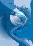 μπλε φυσαλίδες εμβλημάτ Στοκ εικόνα με δικαίωμα ελεύθερης χρήσης