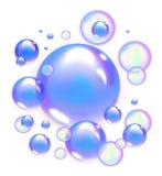 Μπλε φυσαλίδες σαπουνιών απεικόνιση αποθεμάτων
