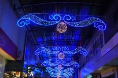 Μπλε φως ένωσης, διακόσμηση αστεριών στοκ εικόνες