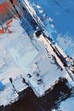 Μπλε φωτεινά χρώματα στον καμβά Ελαιογραφία Αφηρημένο υπόβαθρο τέχνης Ελαιογραφία στον καμβά Σύσταση χρώματος Τεμάχιο του έργου τ απεικόνιση αποθεμάτων