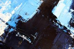 Μπλε φωτεινά χρώματα στον καμβά Ελαιογραφία Αφηρημένο υπόβαθρο τέχνης Ελαιογραφία στον καμβά Σύσταση χρώματος Τεμάχιο του έργου τ ελεύθερη απεικόνιση δικαιώματος