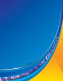 μπλε φωτεινό πορτοκάλι αν Ελεύθερη απεικόνιση δικαιώματος