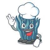 Μπλε φύκι αρχιμαγείρων που απομονώνεται στο χαρακτήρα απεικόνιση αποθεμάτων