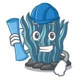 Μπλε φύκι αρχιτεκτόνων που απομονώνεται στο χαρακτήρα διανυσματική απεικόνιση