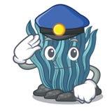 Μπλε φύκι αστυνομίας στη μασκότ μορφής απεικόνιση αποθεμάτων
