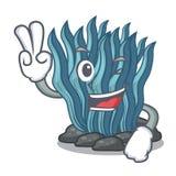 Μπλε φύκι δύο δάχτυλων που απομονώνεται στο χαρακτήρα διανυσματική απεικόνιση