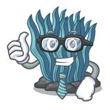 Μπλε φύκι επιχειρηματιών που απομονώνεται στο χαρακτήρα διανυσματική απεικόνιση