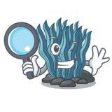 Μπλε φύκι ιδιωτικών αστυνομικών που απομονώνεται στο χαρακτήρα ελεύθερη απεικόνιση δικαιώματος