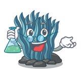 Μπλε φύκι καθηγητή που απομονώνεται στο χαρακτήρα διανυσματική απεικόνιση