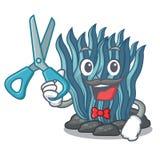 Μπλε φύκι κουρέων στη μασκότ μορφής απεικόνιση αποθεμάτων