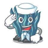 Μπλε φύκι ναυτικών στη μασκότ μορφής απεικόνιση αποθεμάτων