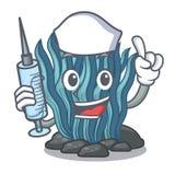 Μπλε φύκι νοσοκόμων που απομονώνεται στο χαρακτήρα απεικόνιση αποθεμάτων