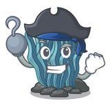 Μπλε φύκι πειρατών στη μασκότ μορφής ελεύθερη απεικόνιση δικαιώματος