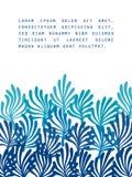 Μπλε φύκι στο άσπρο ωκεάνιο πρότυπο χλωρίδας για μια αφίσα, διάνυσμα ελεύθερη απεικόνιση δικαιώματος