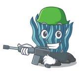 Μπλε φύκι στρατού στη μασκότ μορφής απεικόνιση αποθεμάτων