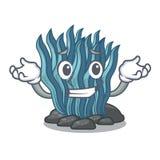 Μπλε φύκι χαμόγελου που απομονώνεται στο χαρακτήρα απεικόνιση αποθεμάτων