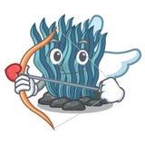Μπλε φύκι Cupid στη μασκότ μορφής ελεύθερη απεικόνιση δικαιώματος