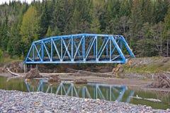 μπλε χάλυβας σιδηροδρόμου γεφυρών Στοκ Φωτογραφία
