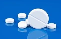 μπλε χάπια ανασκόπησης Στοκ Φωτογραφία