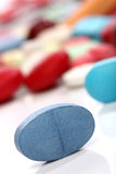 μπλε χάπι ιατρικής Στοκ Εικόνες