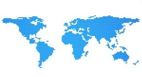 μπλε χάρτης σφαιρών μεταλ&lamb απεικόνιση αποθεμάτων