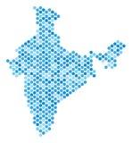 Μπλε χάρτης της Ινδίας σημείων ελεύθερη απεικόνιση δικαιώματος