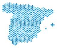 Μπλε χάρτης της Ισπανίας σημείων ελεύθερη απεικόνιση δικαιώματος