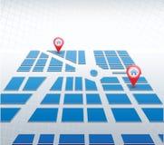 Μπλε χάρτης Στοκ Εικόνα