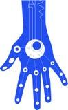 μπλε χέρι Στοκ φωτογραφίες με δικαίωμα ελεύθερης χρήσης